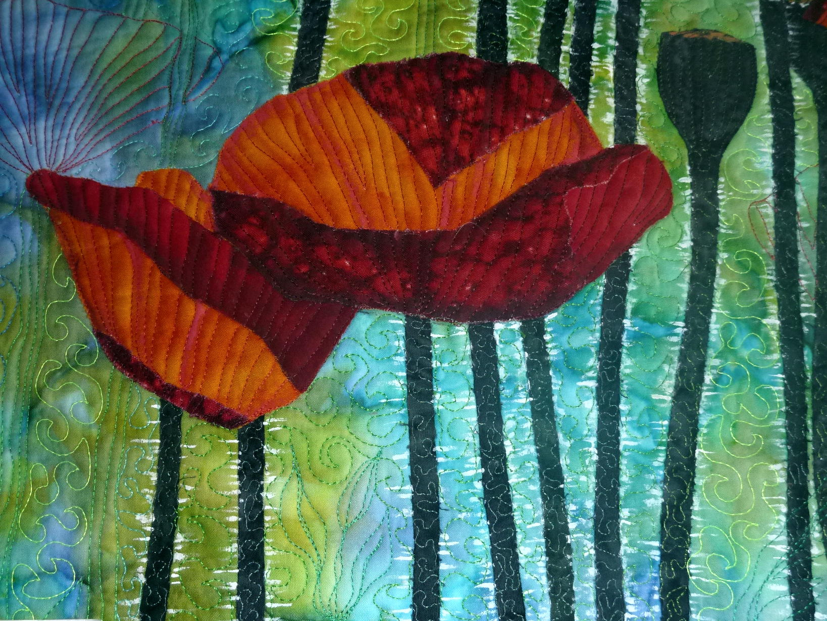 art quilt diseño de Leonore Crawford
