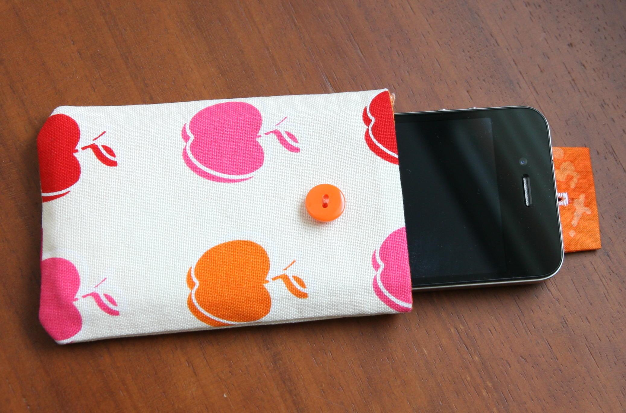 Cómo hacer una funda para móvil en tela