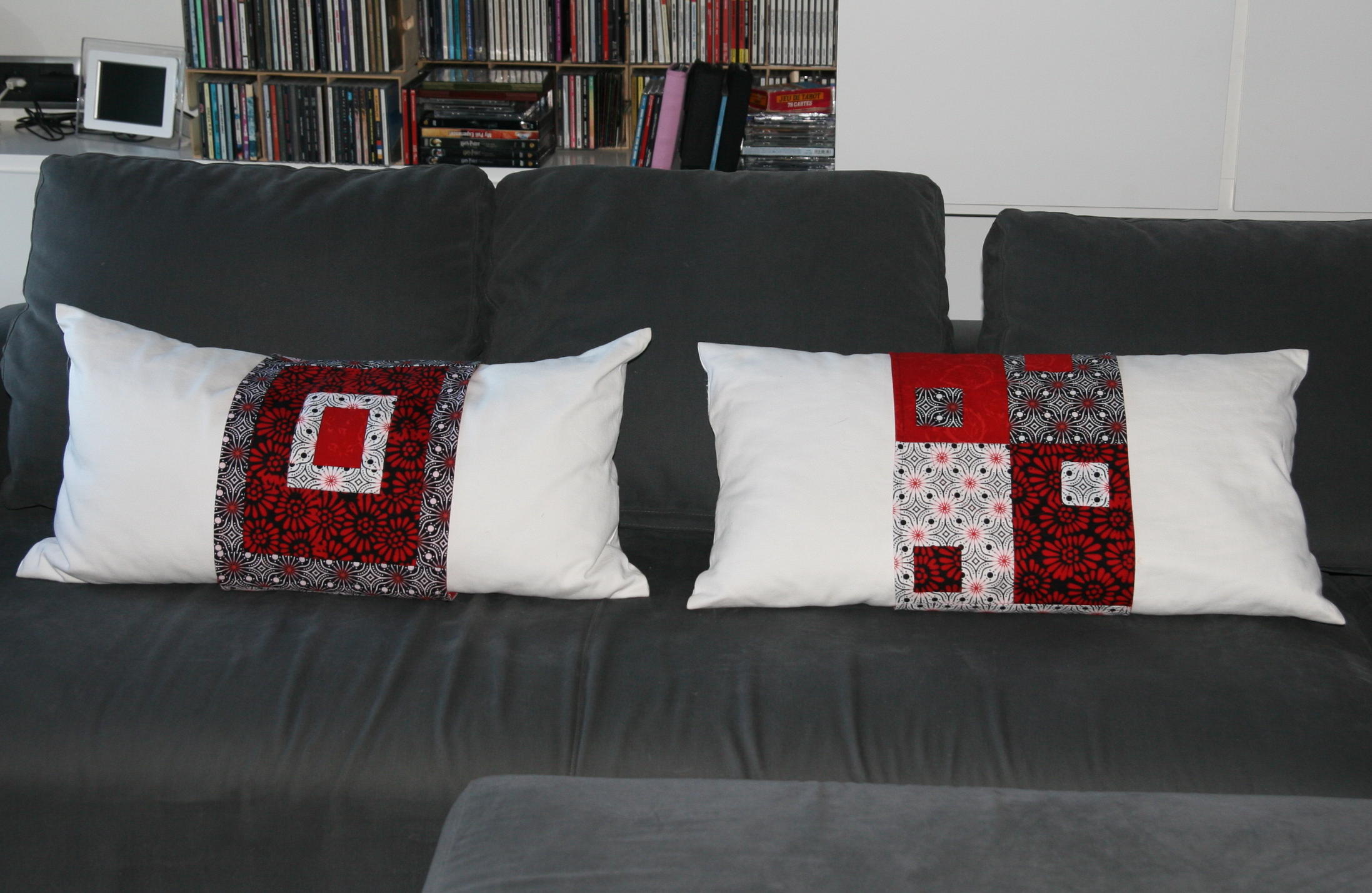 Cómo vestir un cojín de patchwork en 30mn.   Fibra Creativa