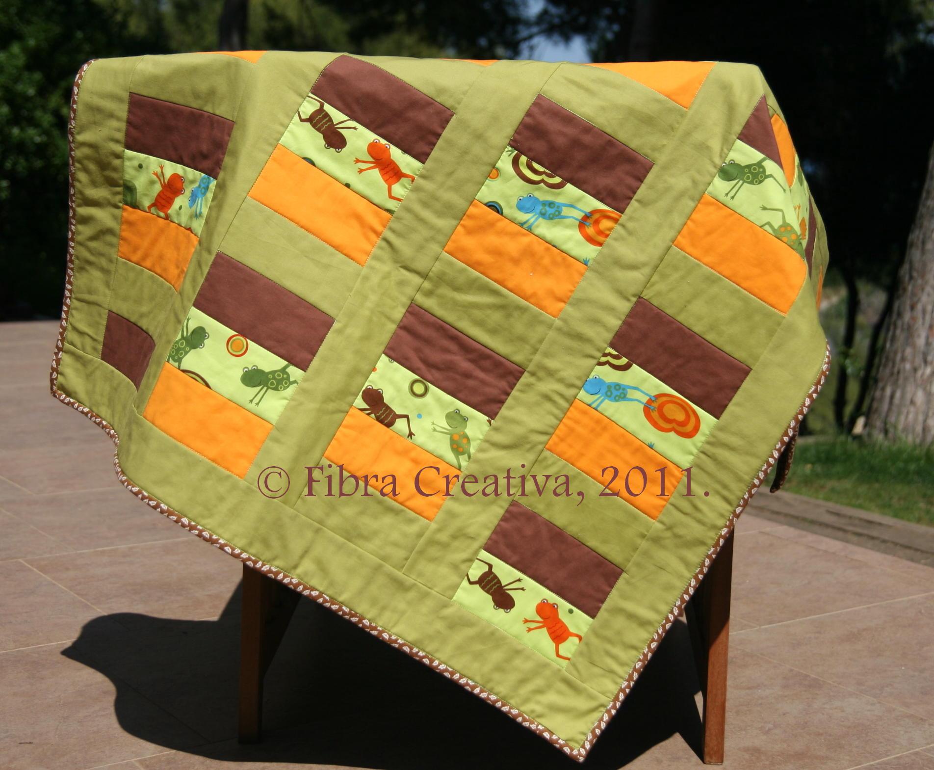 patrones de patchwork gratis colcha para niños