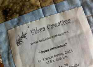 Imprimir en tela una etiqueta de quilt