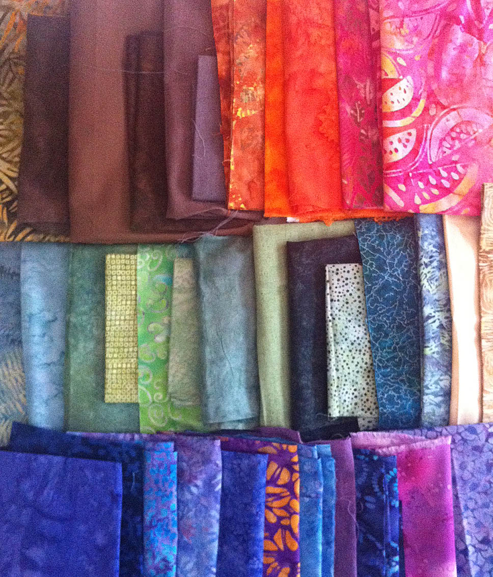 telas de patchwork multicolores