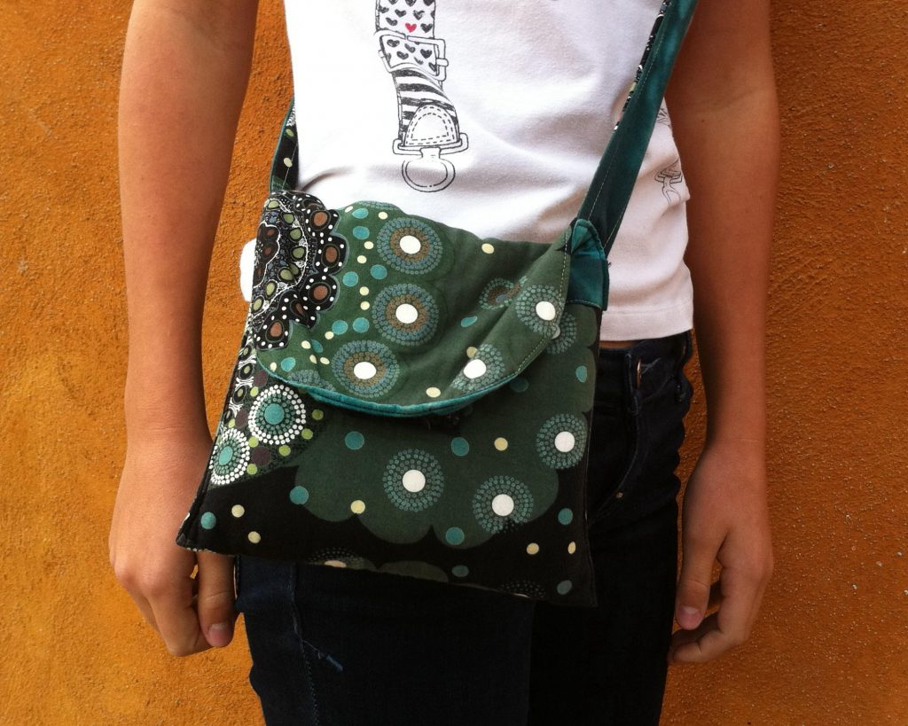 Bolso de patchwork telas australianas