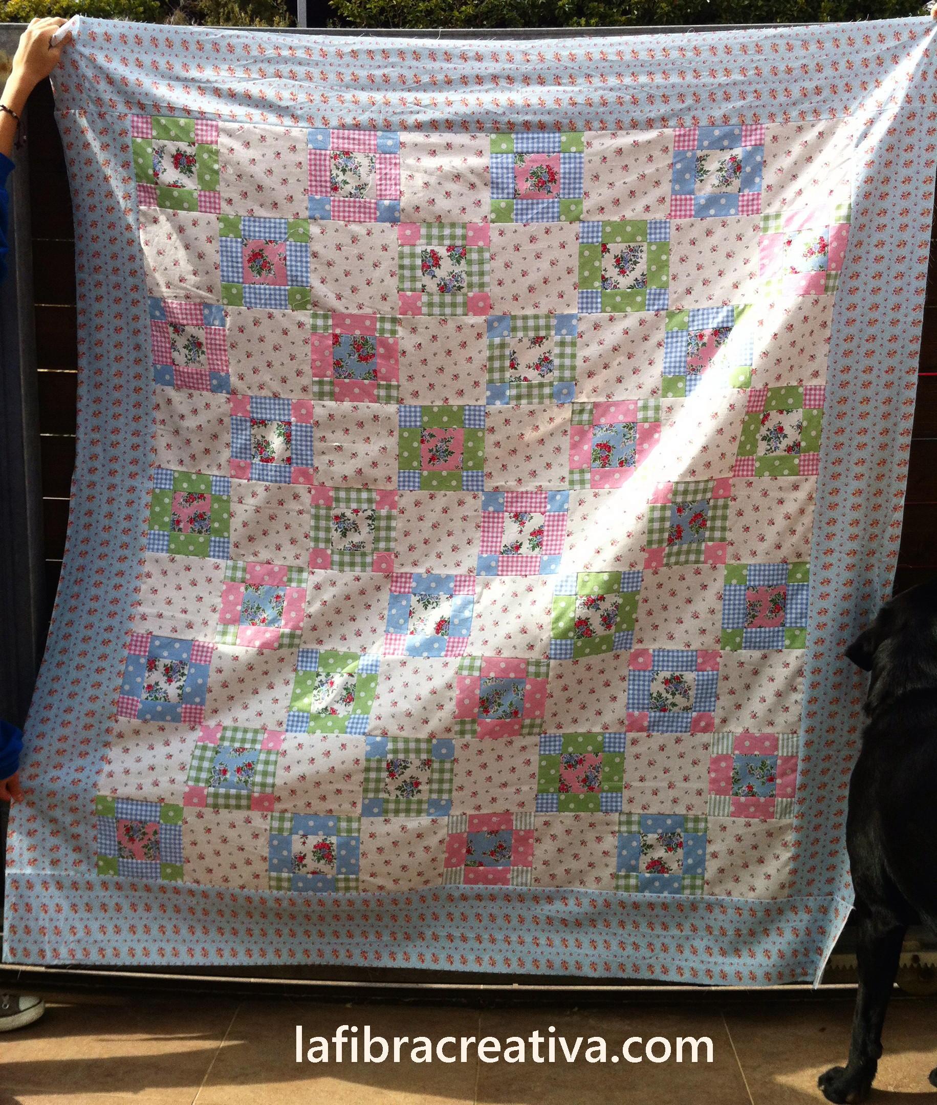 top del quilt de patchwork 9-patch