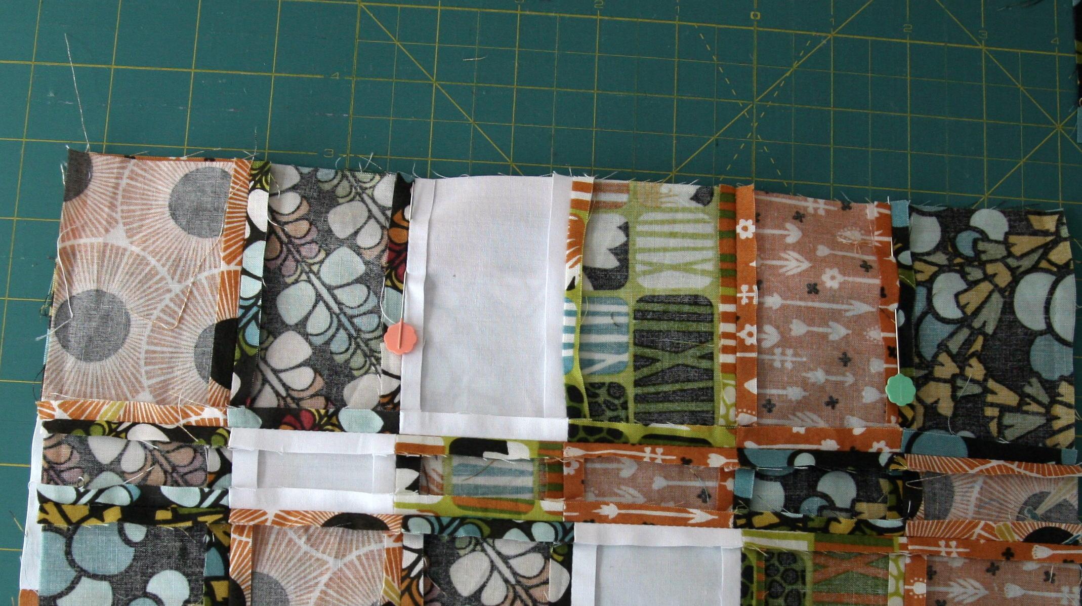técnica de patchwork sujetar costuras