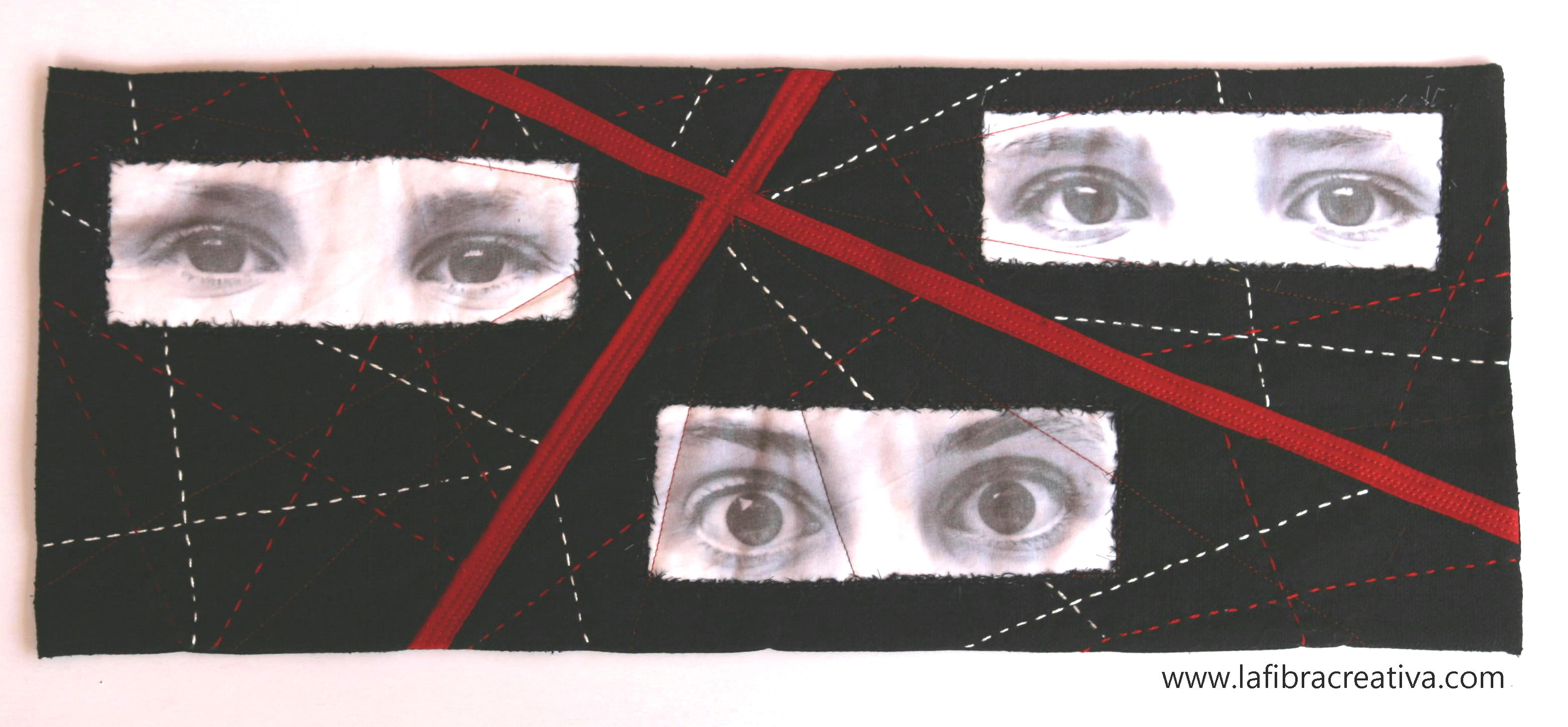 art quilt France Buyle Youth at the crossroads exposición EQA 2012