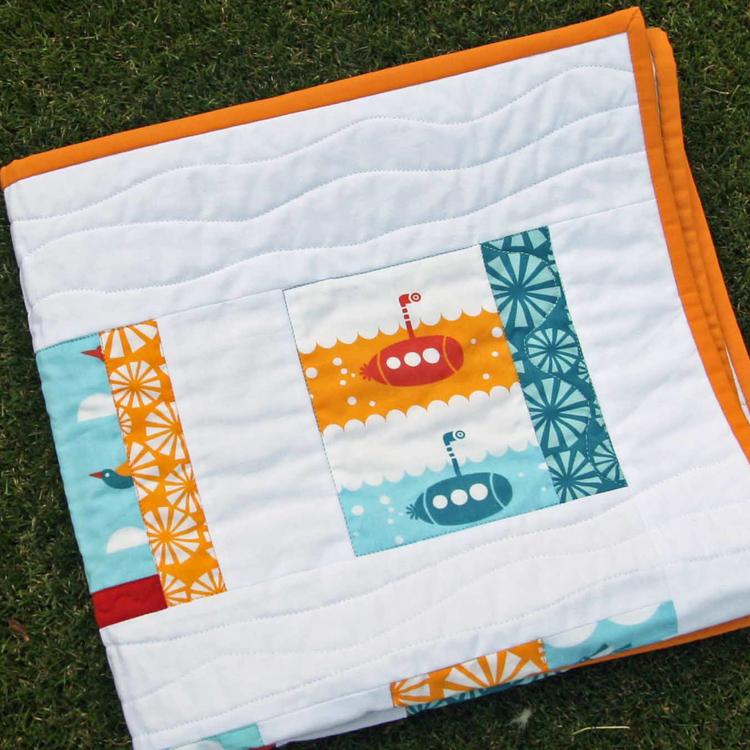 colcha de patchwork para bebé moderna de algodón orgánico