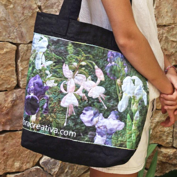 bolso primavera floral de patchwork