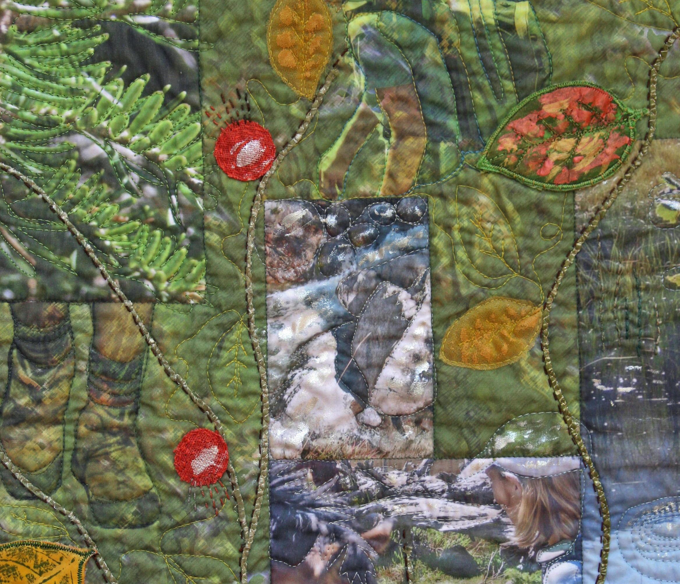art quilt tela impresa digitalmente y aplicaciones