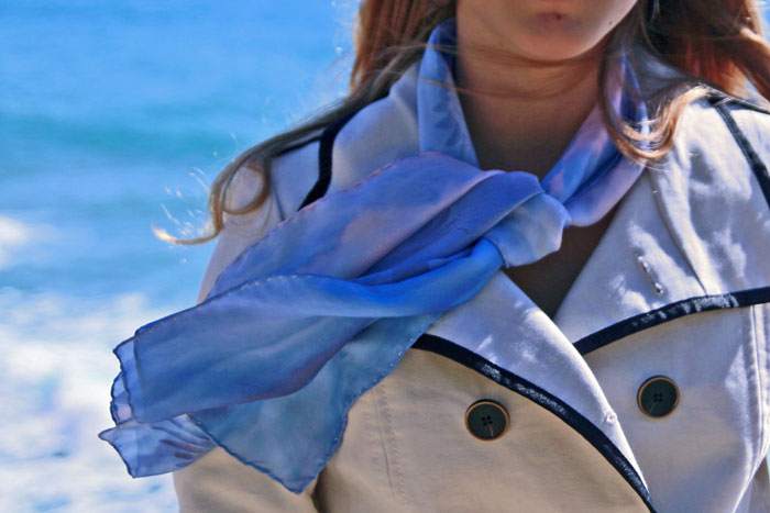 pañuelo de seda impresión digital personalizada