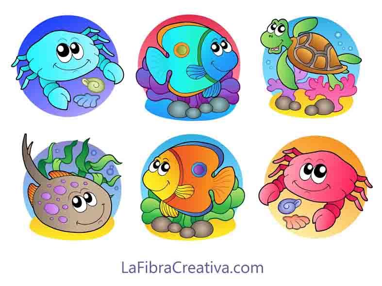 aplicaciones para niños para patchwork animales marinos