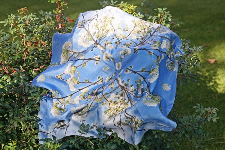 pañuelo de seda personalizado con foto