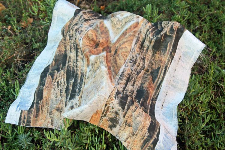 fular de seda original con foto