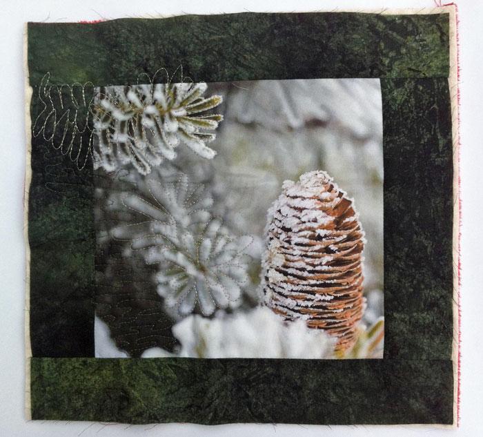 proyecto de patchwork de Navidad