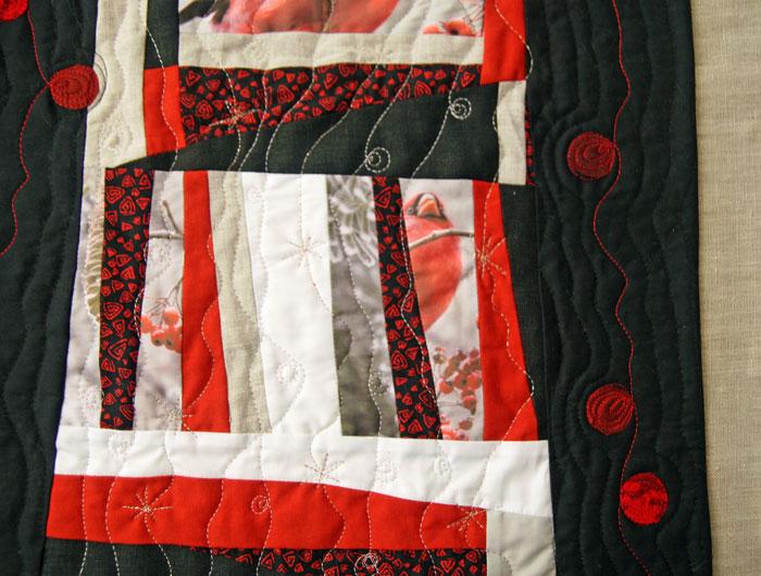 patchwork contemporáneo acolchado libre a máquina
