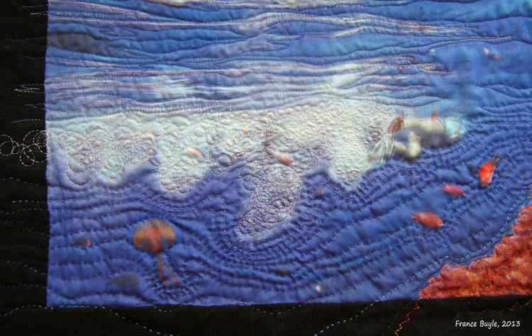 art quilt agua