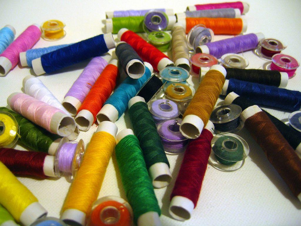 hilos para patchwork de colores