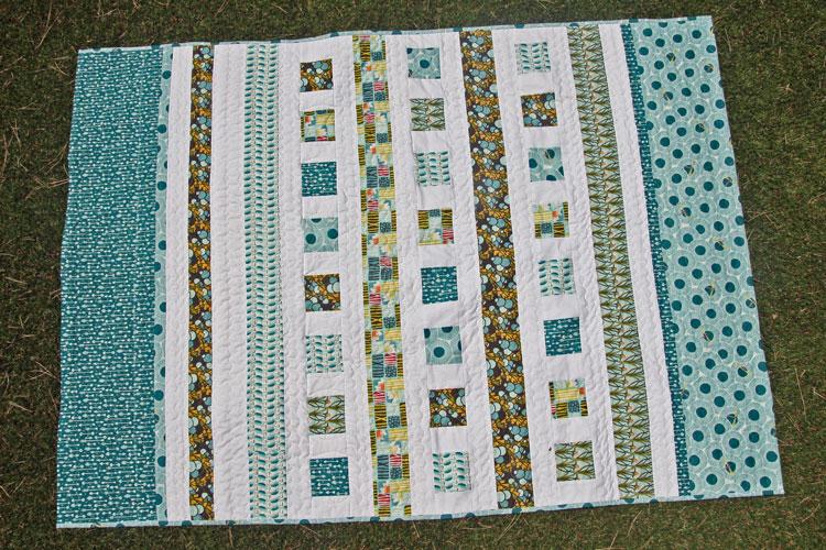 colcha de patchwork de algodón ecológico