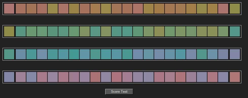 prueba visión de colores