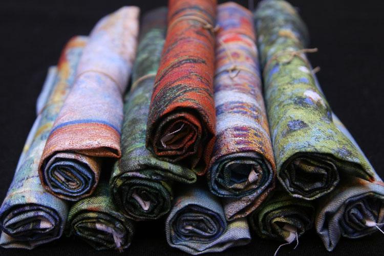 colección lino estampado impresionista Fibra Creativa