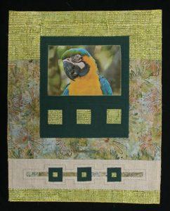 mini quilt con foto impresa en tela