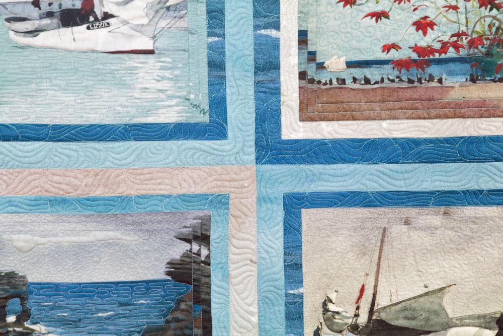 Acolchar con máquina de brazo largo - Fibra Creativa patchwork y quilts