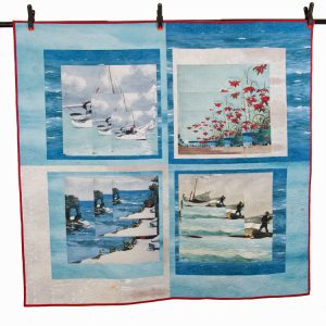 wholecloth quilt Florida Fibra Creativa