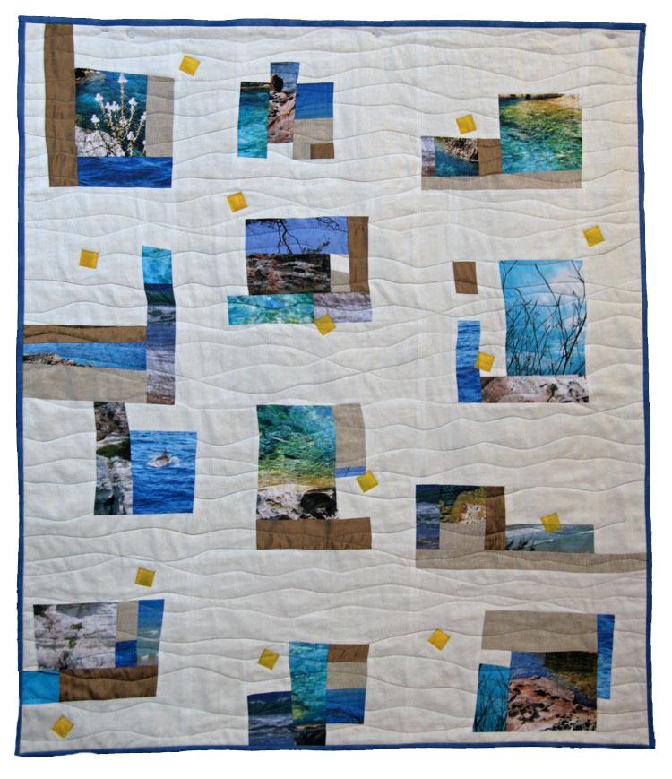 Quilt de patchwork moderno menorca