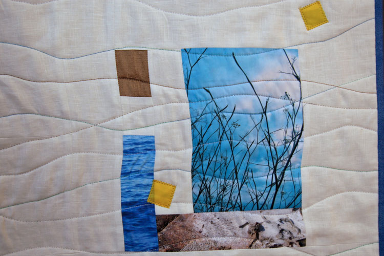 foto impresa en tela en casa en patchwork