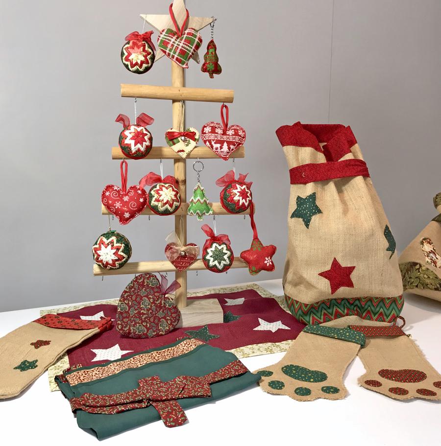 proyectos de Navidad con arpillera