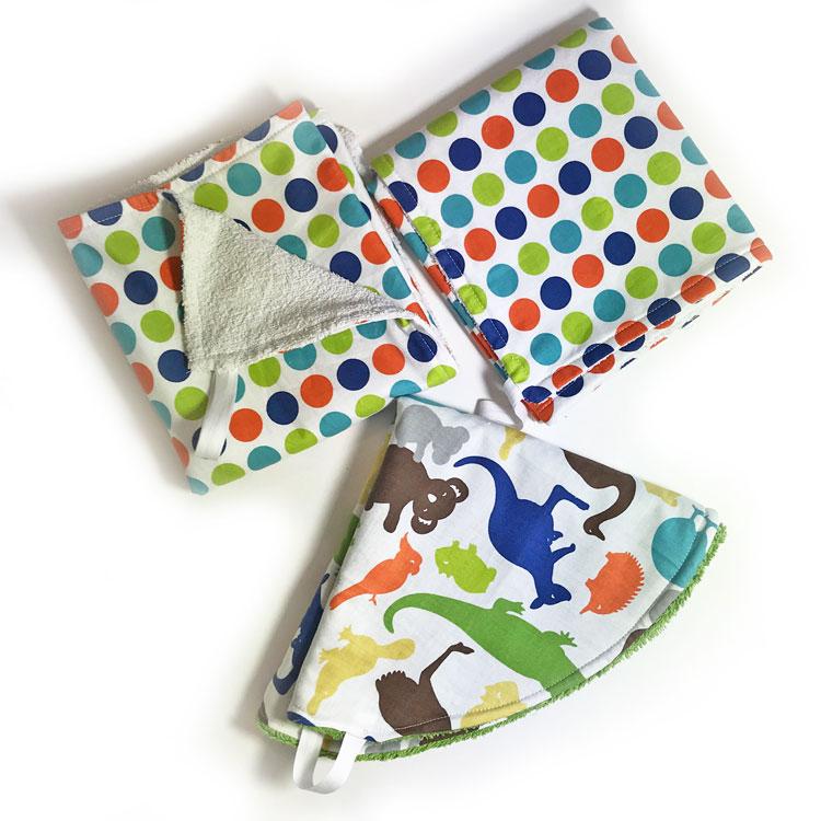 toallas de mano hechas con toallas de baño recicladas