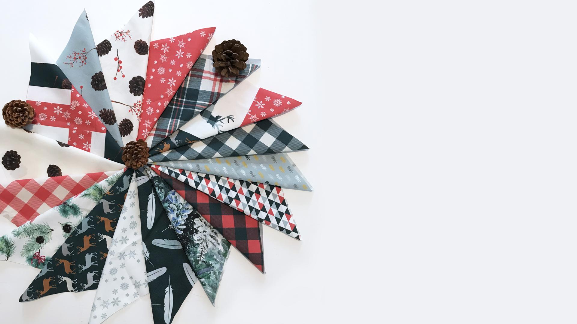 """Telas navideñas colección """"Navidad en la Selva"""" para patchwork y costura Fibra Creativa"""